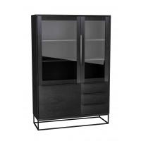 TOULON VITRINE 115 cm  zwart